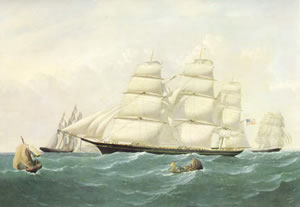 Clipper: Hurricane, 1853